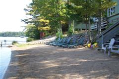 The beach area in front of cottages 7, 8 and 9. Time to relax and play in the sand!