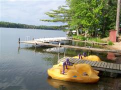 The sunning dock and paddle boats - what better way is there to spend a warm sunny day!
